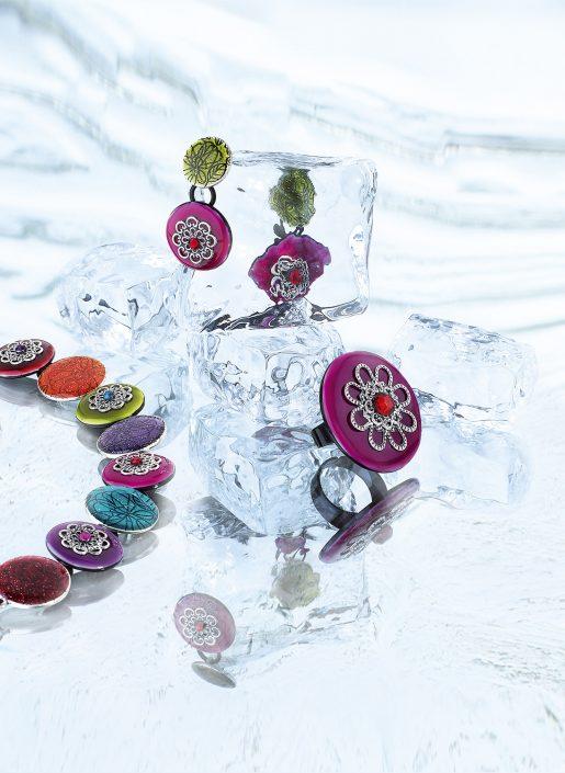 PLV Hiver thème glaçons bijoux Ikita pour Créapole